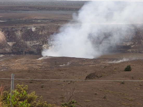 Thomas A. Jaggar Museum : Steam from Crater at Jagger