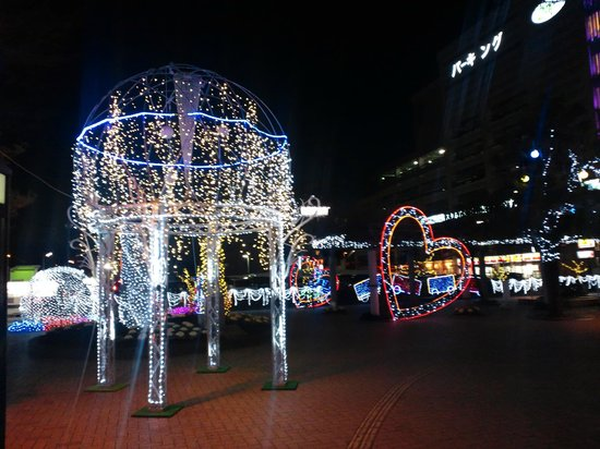 Fujieda Tomari: 藤枝駅前イルミ1