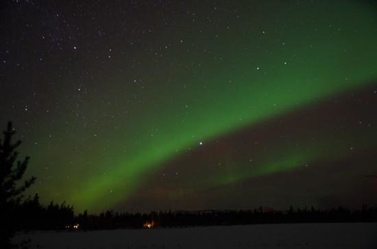 Sundog Retreat: Aurora Borealis shot from Aurora cabin 11-29-13