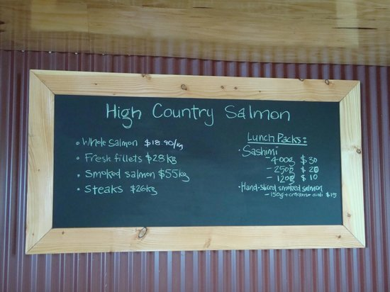 High Country Salmon: price list