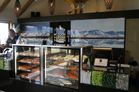 Mt. Cook Alpine Salmon Farm: retail shop