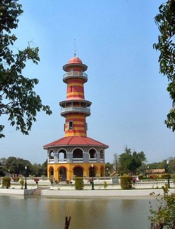 Bang Pa-In Palace: a private lighthouse?  sure, why not