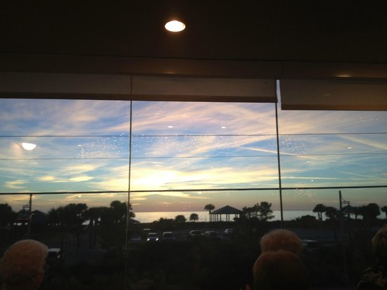 Gulf View Grill: The view from our table!
