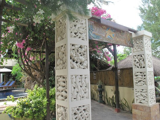 Villa Almarik Resort Lombok: Вход
