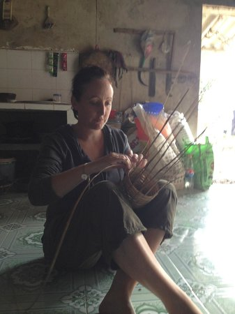 Bloom Microventures: trying weaving shrimp ctachers