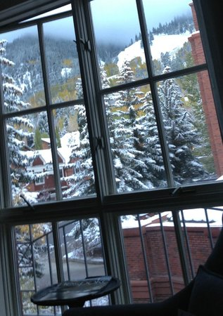 The St. Regis Aspen Resort: view from bed