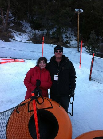 Howelsen Hill Ski Area: Getting ready to tube on Howelson Hill