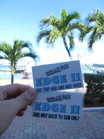 Aqua Mania Adventures: My tickets for the Saba ferry!