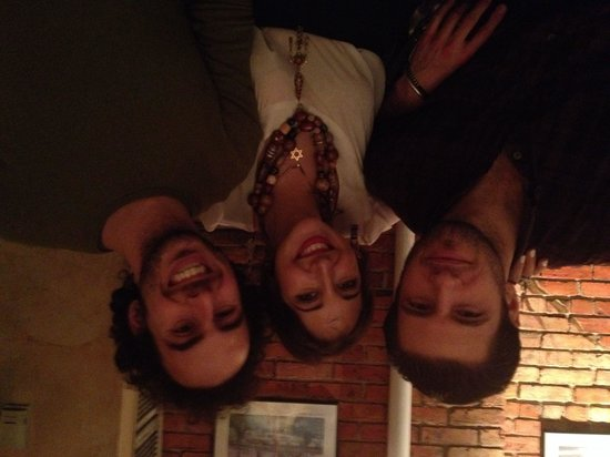 Brick Lane Curry House: Ryan, Zena & Alonchik before dinner was served.