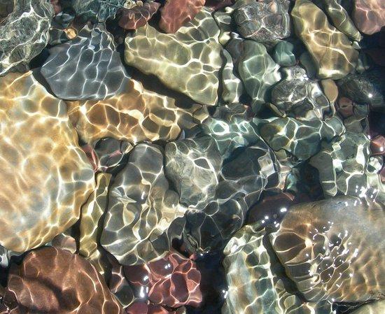 Baring Falls: crystal clear water