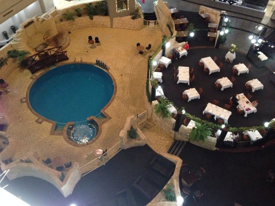 Best Western Plus Hotel Lord Forrest: View to pool and restaurant from 5th floor