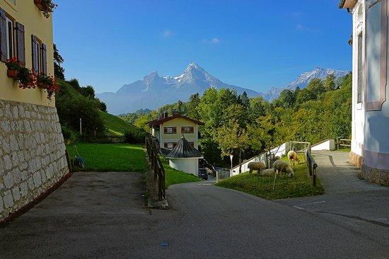 Maria Gern : Mt. Watzmann in the distance