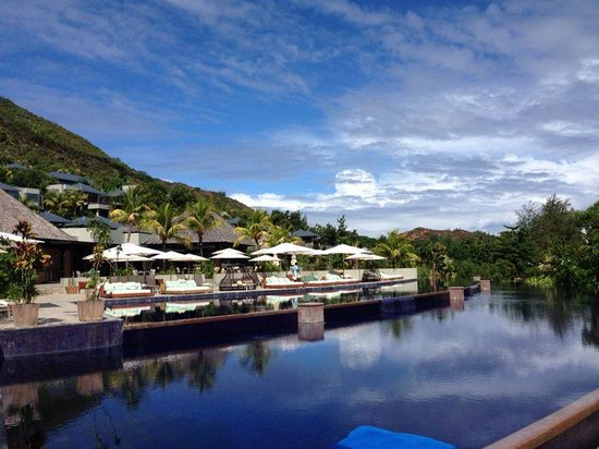 Raffles Seychelles : View from the pool