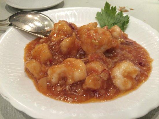 Chinese Restaurant Pekin, Shiba Park Hotel: 干焼明蝦