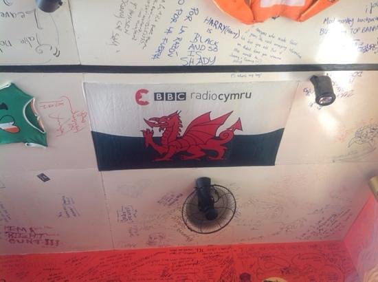 Top Banana Guesthouse: Leaving my mark with a flag!
