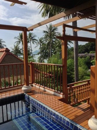The Briza Beach Resort Samui: view from super huge balcony from room 220