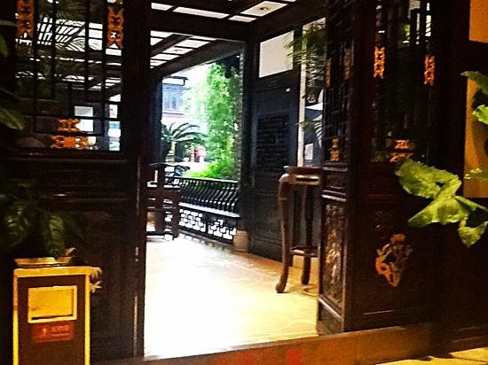 Chengdu Shuyuan : view from restaurant in old chengdu club..AnnH nov13