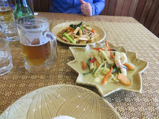 Star of Siam: Green Curry with Mixed Sea Food and Vegetarian Drunken Noodles