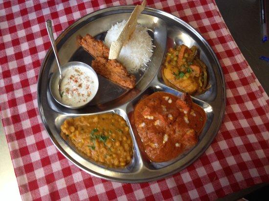 Indian zayeka: plat de dégustation