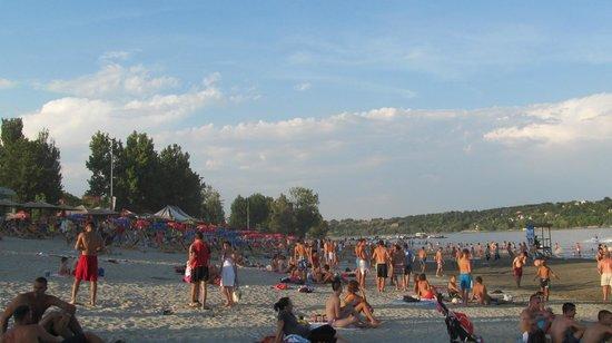 Strand: пляж Штранд, Нови Сад, Сербия, июль 2013