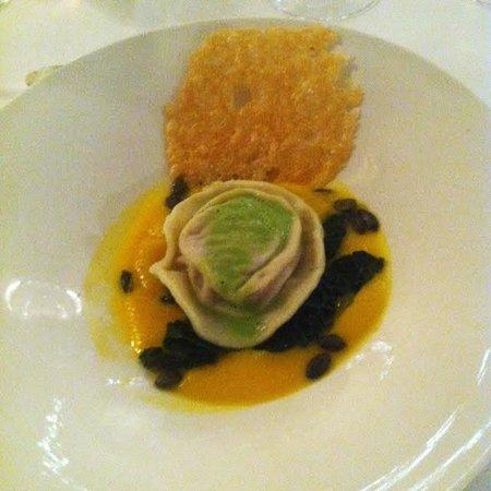 Saunton Sands Hotel: Butternut squash and truffle ravioli