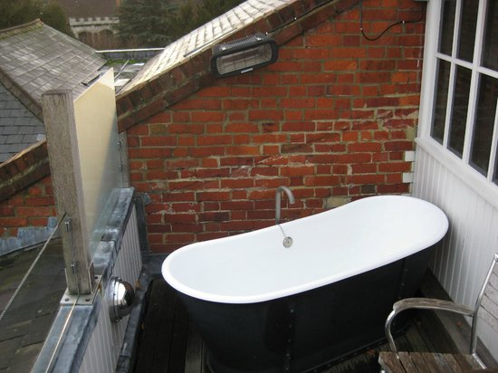 Hotel du Vin: View of the bath on the balcony