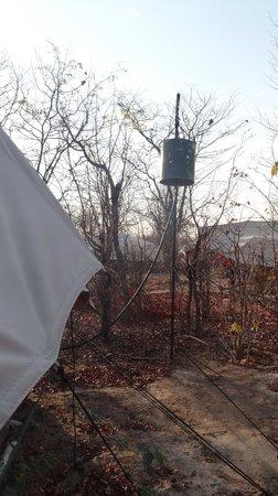 Khwai Tented Camp: il secchio della doccia