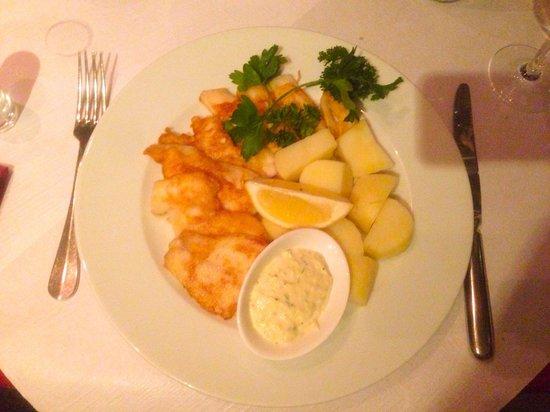 Wohlenfischessen: Hecht (ohne Gräten!) mit Salzkartoffeln und hausgemachter Sauce Tartare