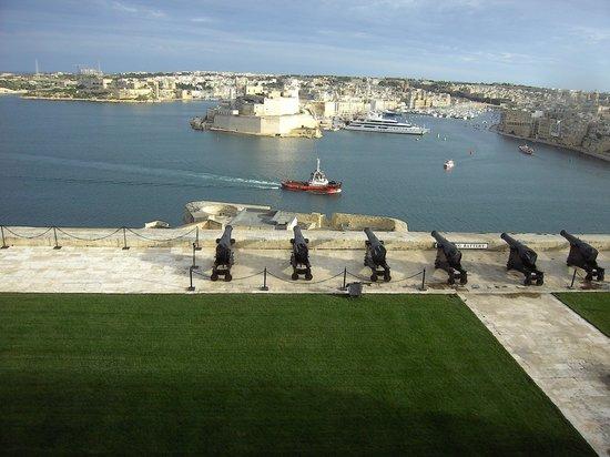 Malta5D : Sicht zum Hafen