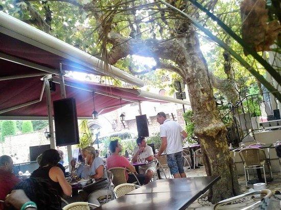 Vu sur la terrasse de l' Hotel Restaurant L'O Mandelieu La Napoule