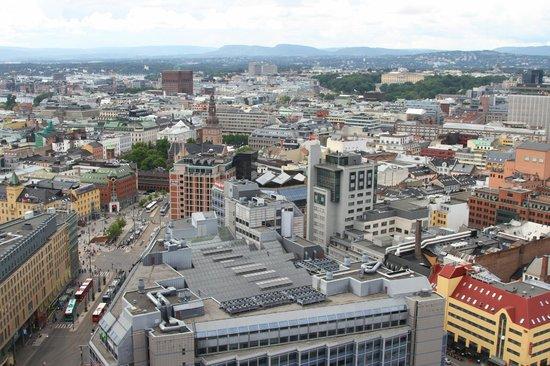 Radisson Blu Plaza Hotel, Oslo: Вид на город