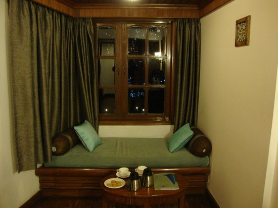 The Naini Retreat: This is the window area which has the good view