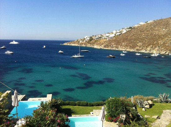 Grecotel Mykonos Blu Hotel: View from Bungalow in the morning