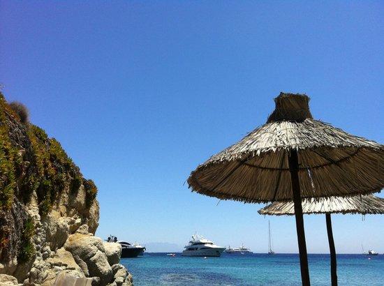 Grecotel Mykonos Blu Hotel : Hotel's Private Beach