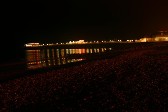 Worthing Pier: The Pier at night.