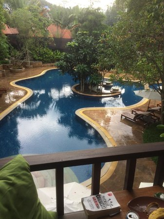 The Tubkaak Krabi Boutique Resort: View from room over pool area