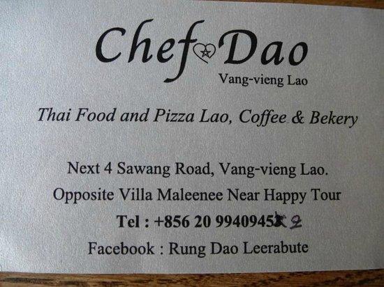 Chief Dao: Business Card