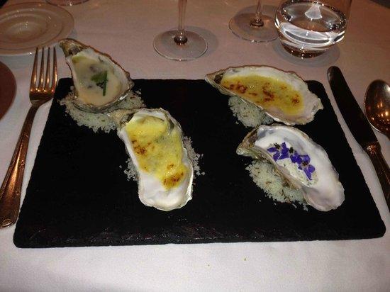 Le Relais Des Moines : Entrée d'huîtres
