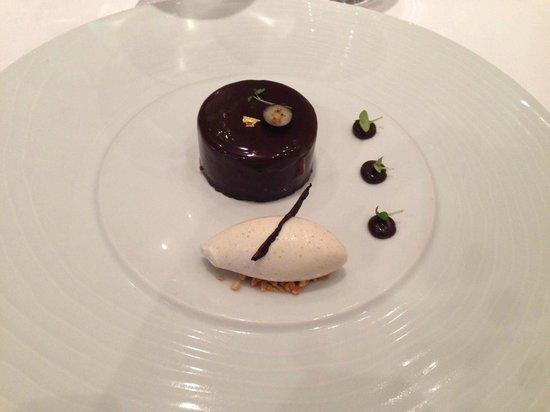 Le Relais Des Moines : Dessert chocolat glace vanille de Tahiti
