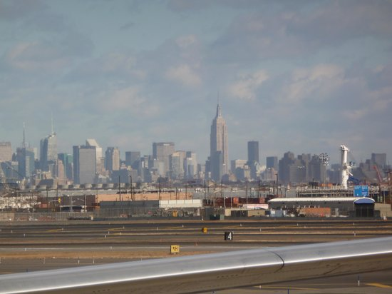 San Fermin B&B: Our first view of New York from Newark airport