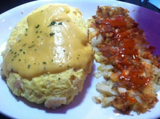 Peppermill's Fireside Lounge: Seafood Omelette
