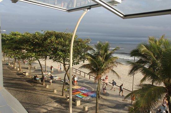 Hotel Arpoador: Aussicht auf Strand von Ipanema