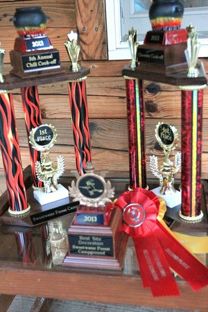 Sweetwater Forest Campground: Trophies & Ribbons for Chili & Chowdah Cook-Off
