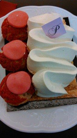 Perlette : St Honoré rose framboise