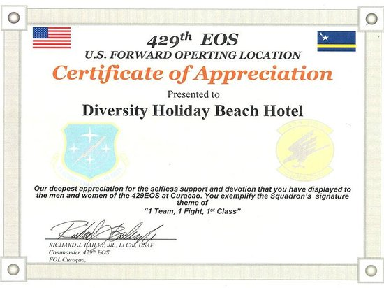 United states air force certificate of appreciation april 2012 diveversity piscadera united states air force certificate of appreciation april 2012 yelopaper Image collections