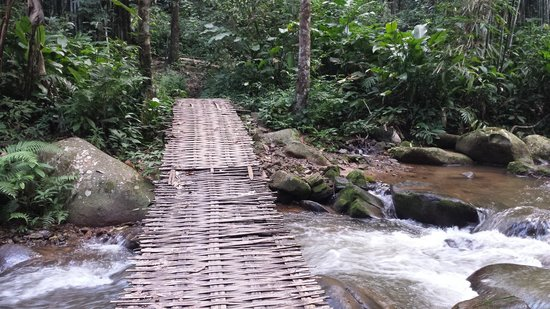 Khun Korn Waterfall: one of the many bridges to cross