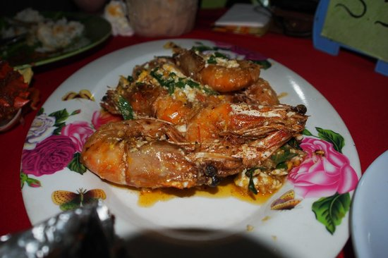 San Pedro: Stired Fried Prawns in Salted Egg