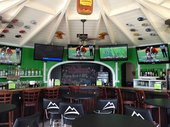 Sports Bar Interior - Picture of Magens Point Bar and Grill, St ...