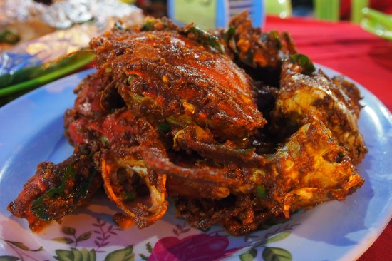 San Pedro: Dry Curry Crabs