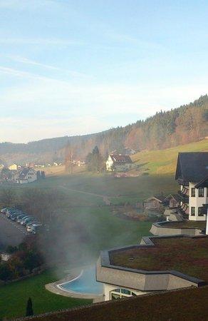 Hotel Engel Obertal: Piscine chauffée extérieure